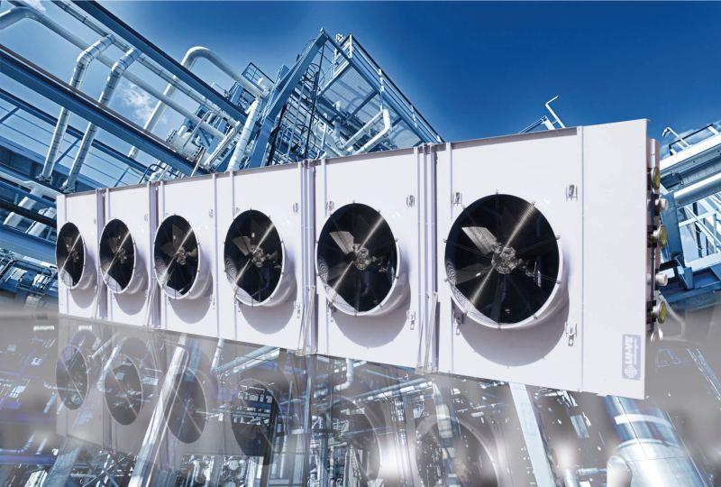 Cooled condenser